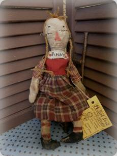 Plain Jane Anne-old raggedy ann, raggedy ann doll, doll, folk art, folk art doll, cloth doll, antique, vintage, antique doll, vintage doll, handmade