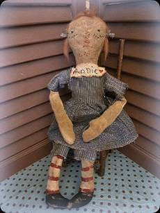 Orphan Annie-cloth doll, rag doll, doll, fabric, rags, stained, antique, vintage, embroider, needlework, antique, raggedy ann, artist, art, fiber art, sculpted, handmade