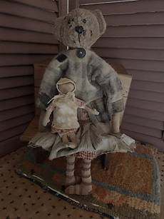 Ragged Old Bear-old doll, doll, primitive doll, folk art doll, bear, old bear, raggedy, raggedy old bear