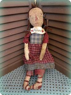Orphanage Ann-old doll, cloth doll, vintage doll, raggedy ann doll, raggedy ann, doll, handmade, vintage, vintage doll, antique, handmade, art, artist offering, fiber, needlework, needle, sew, sewing, quilt