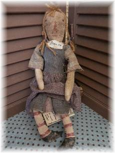 Orphan Ann-cloth doll, rag doll, antique, antique doll, raggedy ann, raggedy ann doll, doll, folk art, folk art doll, country, farmhouse, primitive, primitive folk art, grungy, rustic